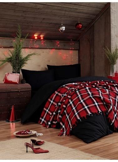 Eponj Home Çok Amaçlı Pike Battaniye Kırmızı